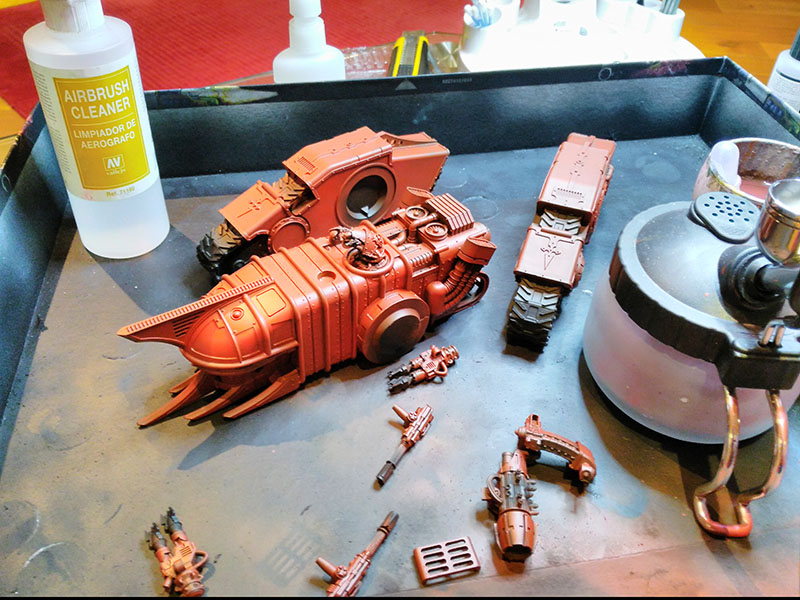 Macrocarid Explorator base coated red