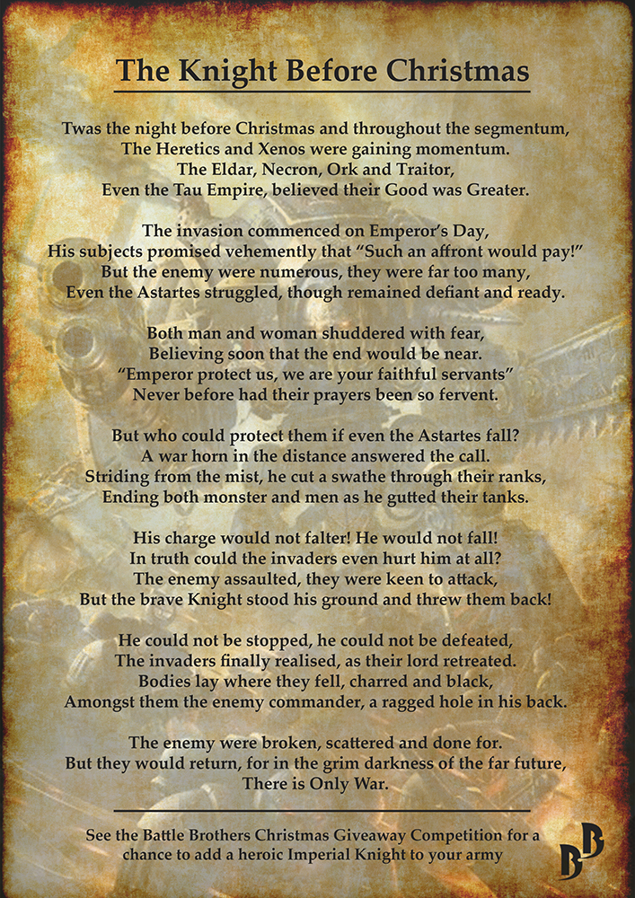 Imperial Knight Poem