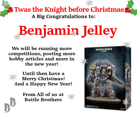 imperial knight giveaway winner