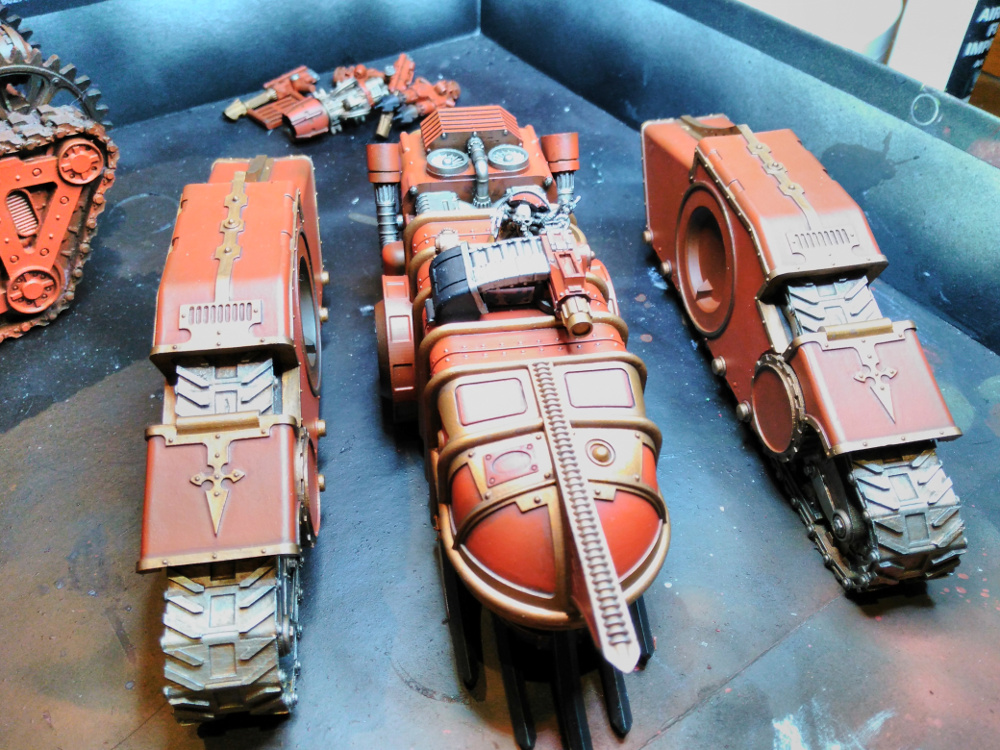 working through the details painting the mechanicum macrocarid explorator