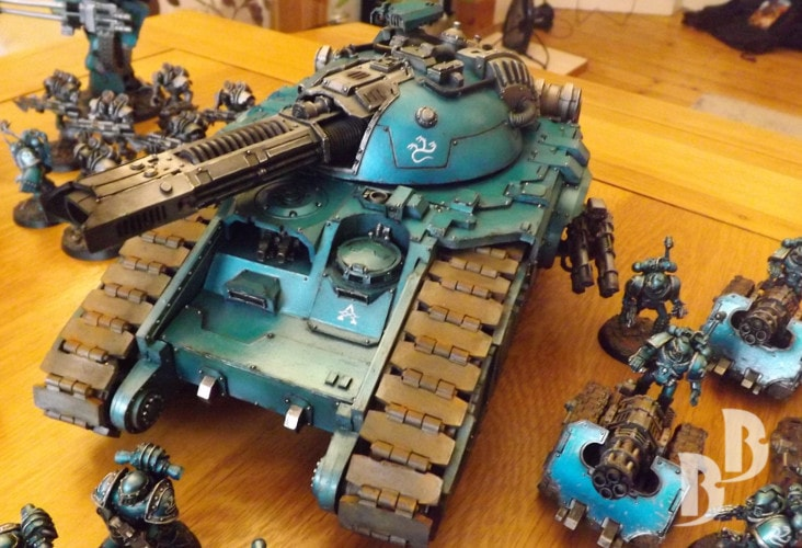 How to paint an Alpha Legion Glaive