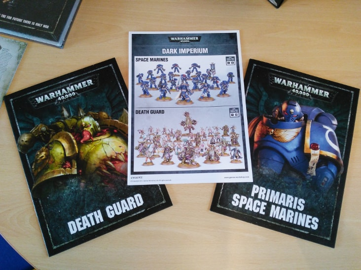 Death Guard and Primaris Space Marine Faction Books