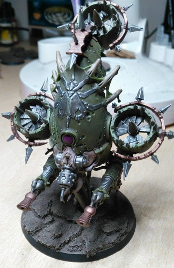 Finished Death Guard Foetid Bloat Drone
